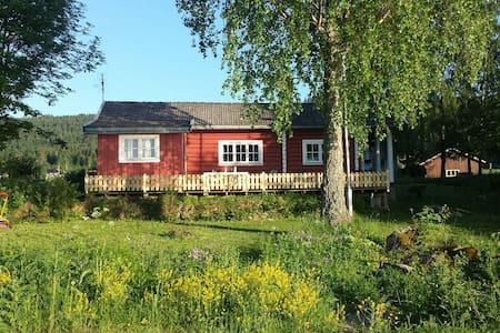 Charming wood cabin by the lake - Vikersund - Cabana