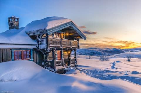 Fjellsyn -1110 moh. Vakker fjellhytte/Haugastøl