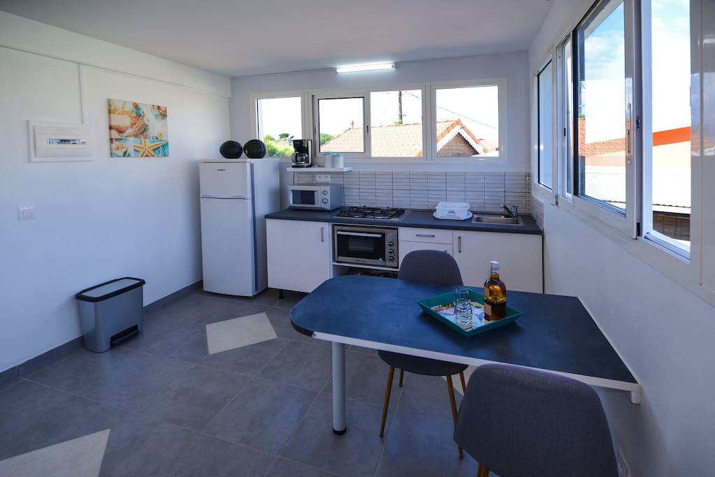 L'espace cuisine/salle à manger