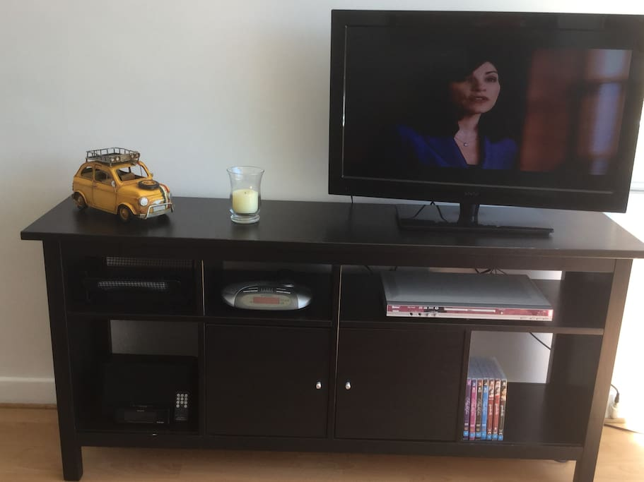 Flat screen TV and DVD player