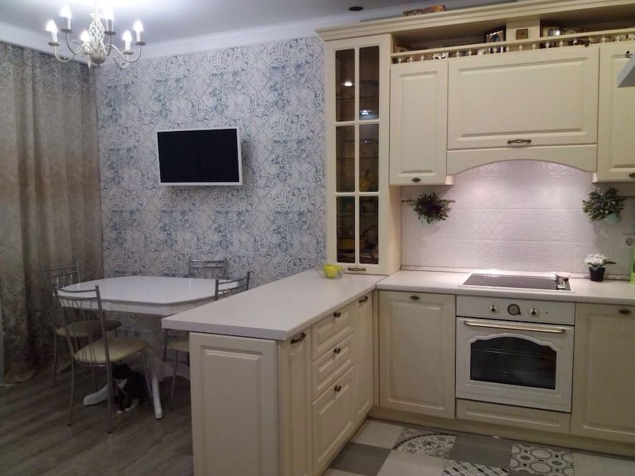 Kitchen and dinner table