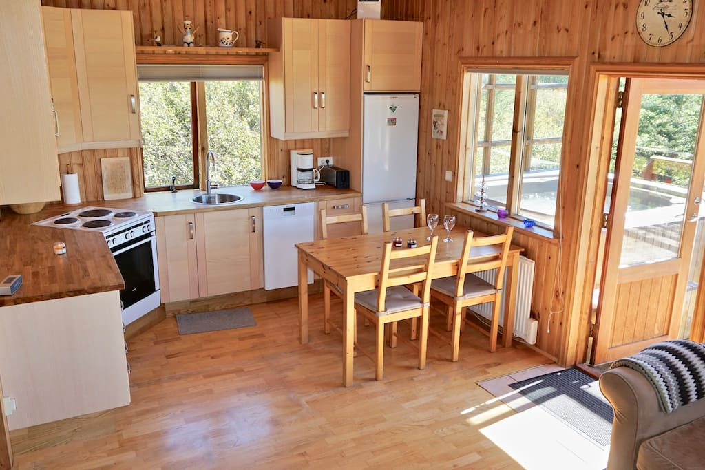 Open Kitchen/Living room with all amenities