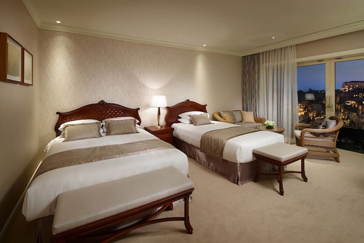 [ Lotte Hotel ] Deluxe Mountain  Family Twin Room
