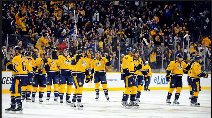 """Home of the Predators (""""Preds""""), Nashville has become quite the hockey town! You're a quick Uber/Lyft ride to Bridgestone Arena from the house."""