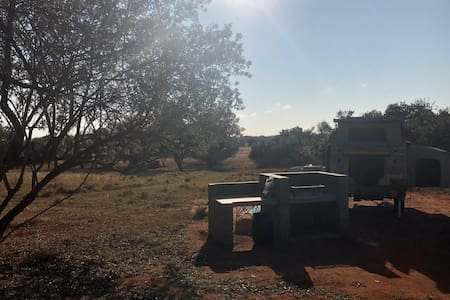 Hidden campsites in the middle of the bush