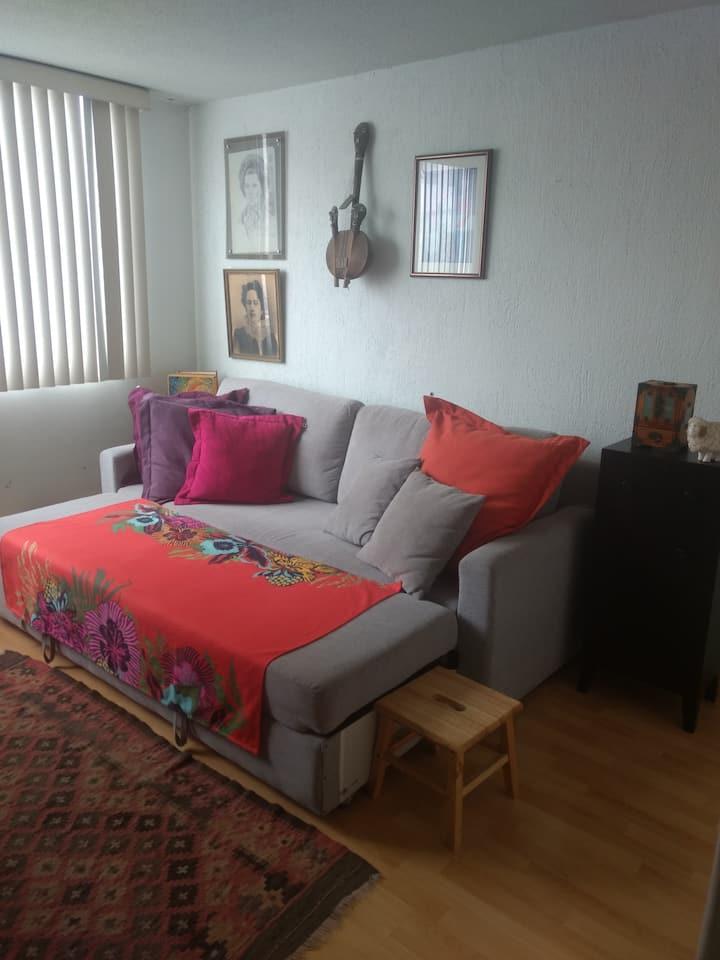 Agradable habitación, zona céntrica, CDMX