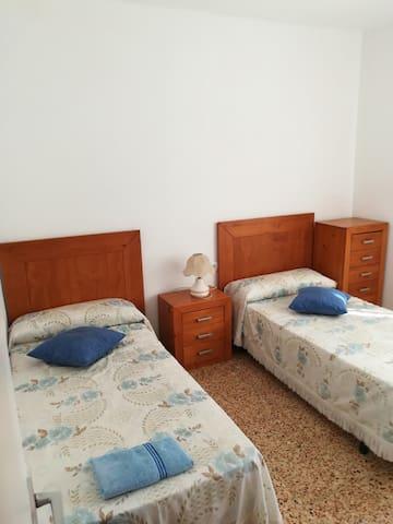 Two single-single bed bedroom.