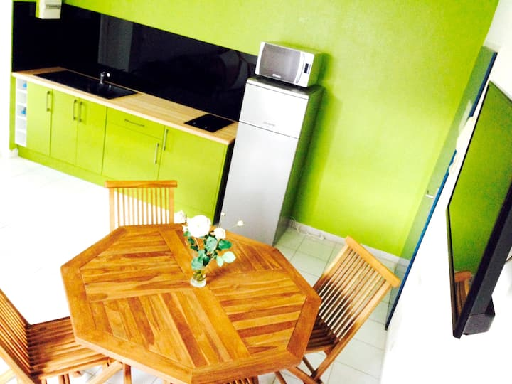 Apartment with one bedroom in Le Gosier, with enclosed garden and WiFi