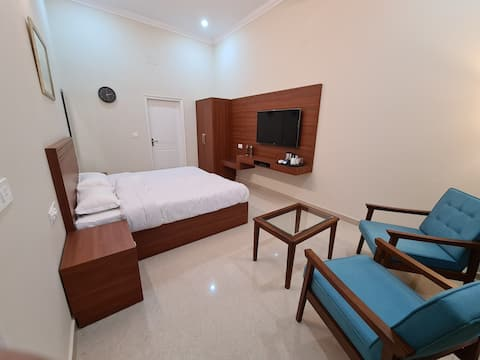 220 sq feet Spacious room, with all amenities.