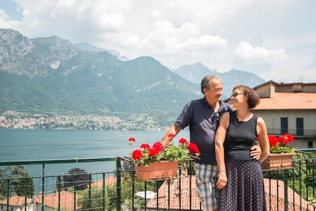 Beautiful view Lake Como & big terrace - Limonta
