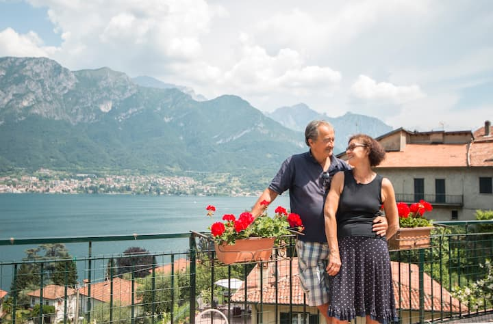 Beautiful view Lake Como & big terrace - Limonta