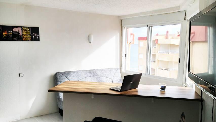 Bright studio near the beach with seaview - La Manga - Huoneisto