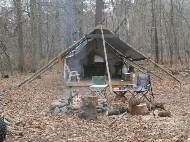 "AWESOME ""WINTER"" Private Wilderness Camp on 12ac."