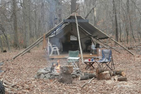 """Fresh Air """"SPRING"""" Private Wilderness Camp on 12ac"""