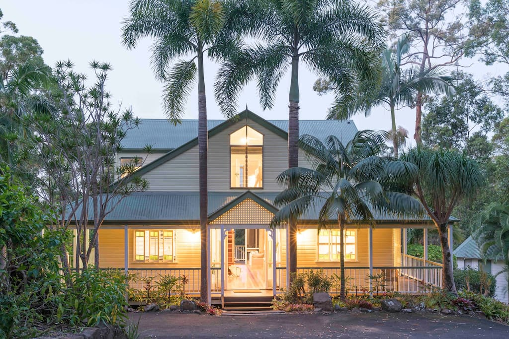 Amity House is set on 1.4 acres and is surrounded by established gardens and bushland