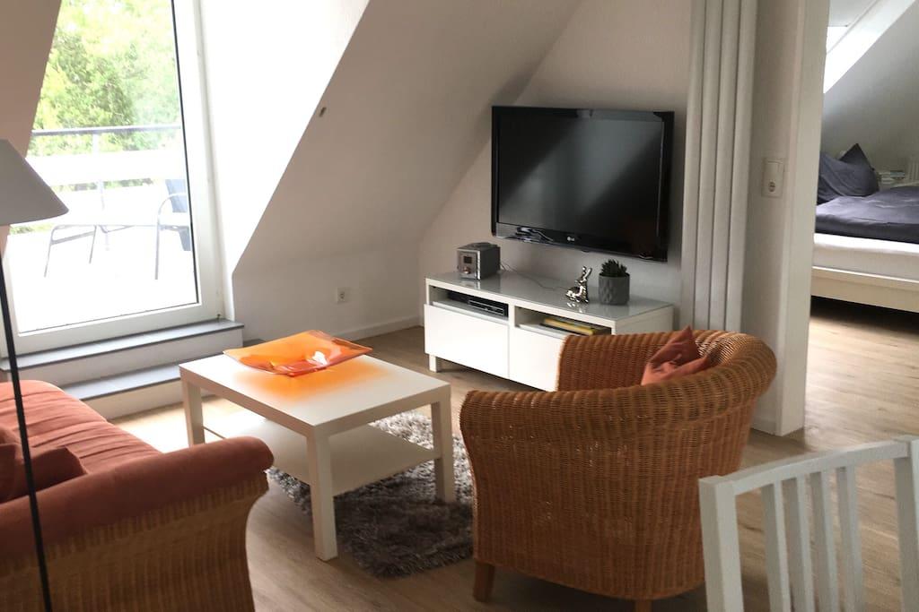 Wohnbereich mit LCD TV