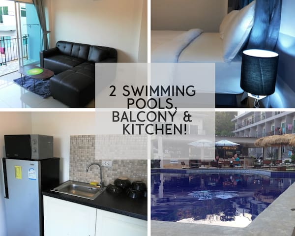 One Bed Koh Samet apartment with 2 SWIMMING POOLS!