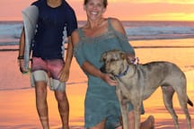 Our guests become our friends and family!  Sunset with Nina and our dog Otto.