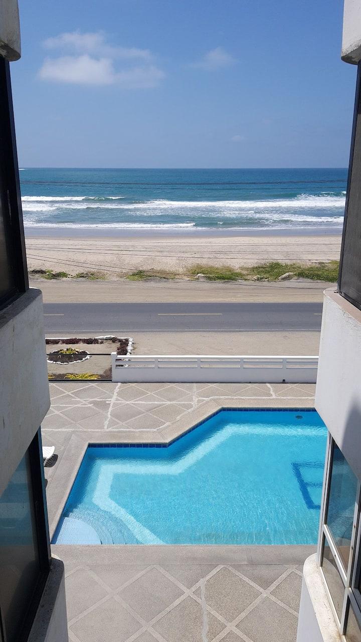 Depar frente al mar, linda vista, jacuzzi, piscina