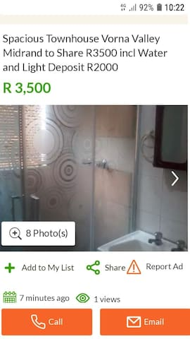 Townhouse to Share Midrand R2800 Deposit R2000