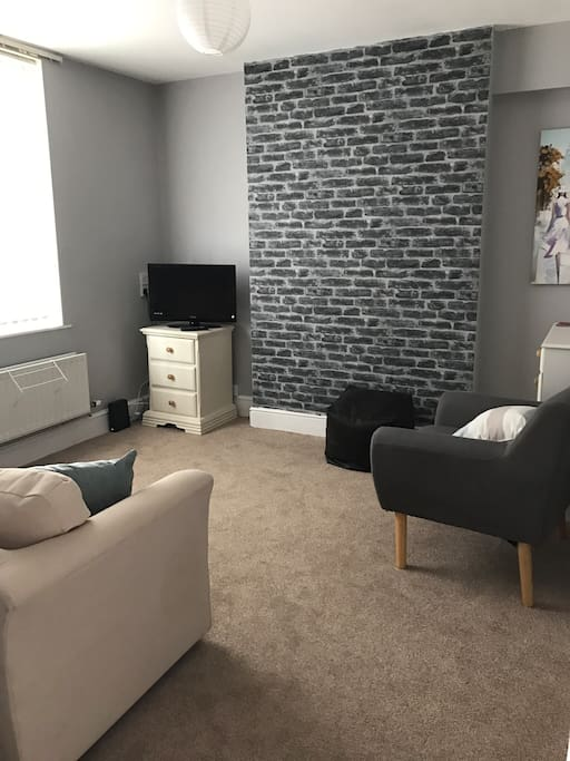 Living room with  double sofabed