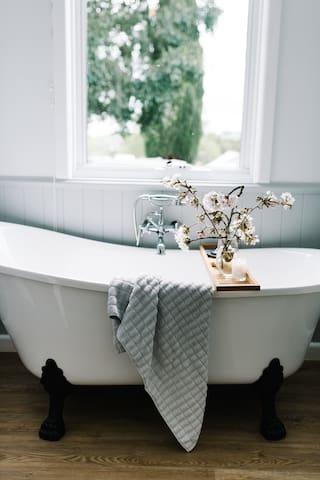 Claw foot Bath in second bathroom