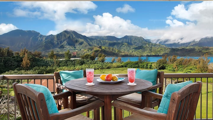 AC WITH HANALEI BAY VIEWS & BEACH ACCESS