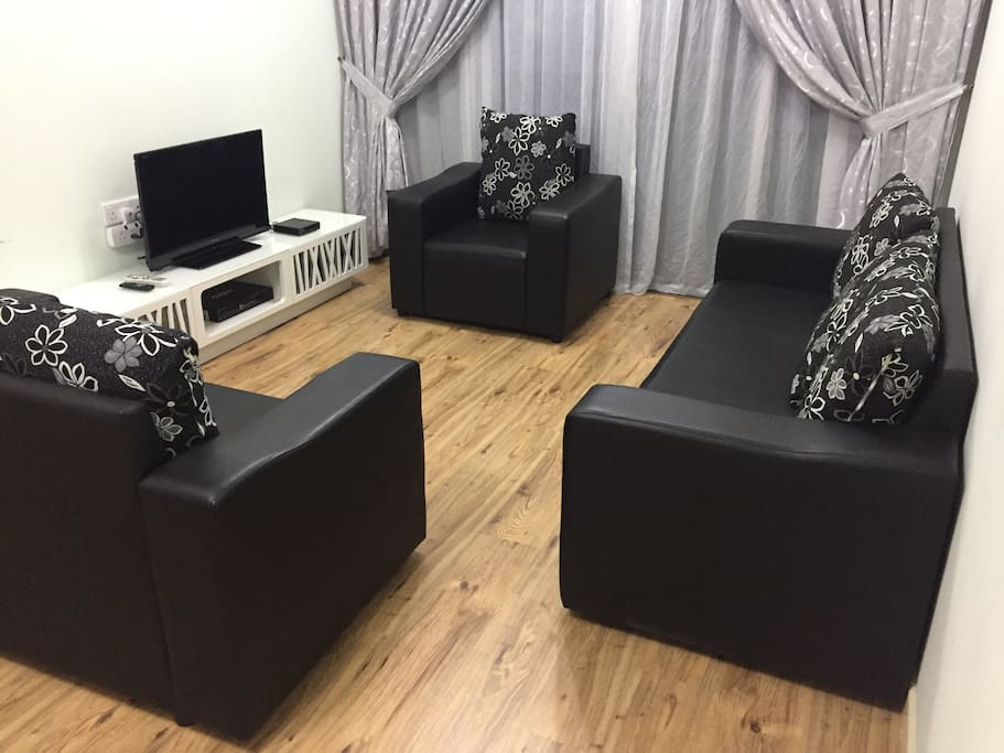 Living room. TV channel include news, Movies, cartoon etc. High speed wifi included.