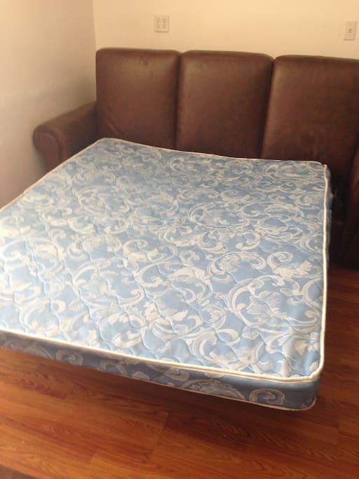 Queen sofa bed.