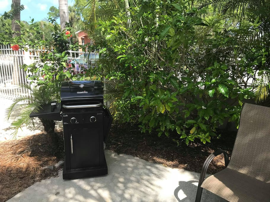 Your private outdoor propane grill
