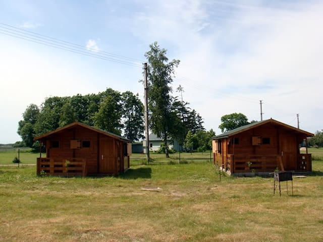 Tranquil Log Cabin Retreat in Šventoji (#1 EASTHS) - Palanga - Cabin