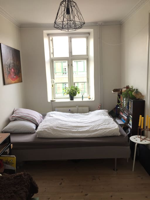 My flatmates room that I usually rent out. 160cm bed