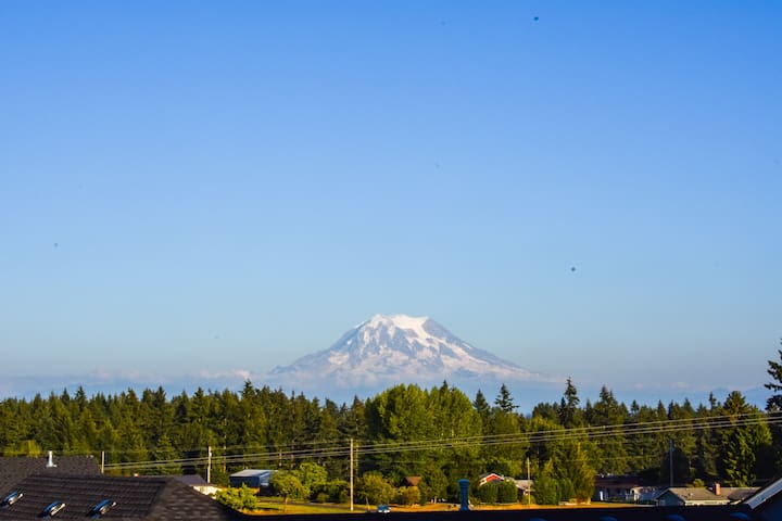 Mt Rainer View from the Patio/ Backyard