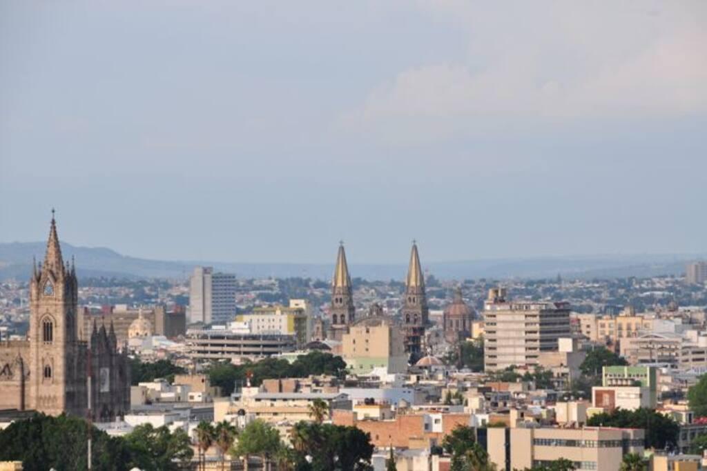 vista a la catedral desde sala principal