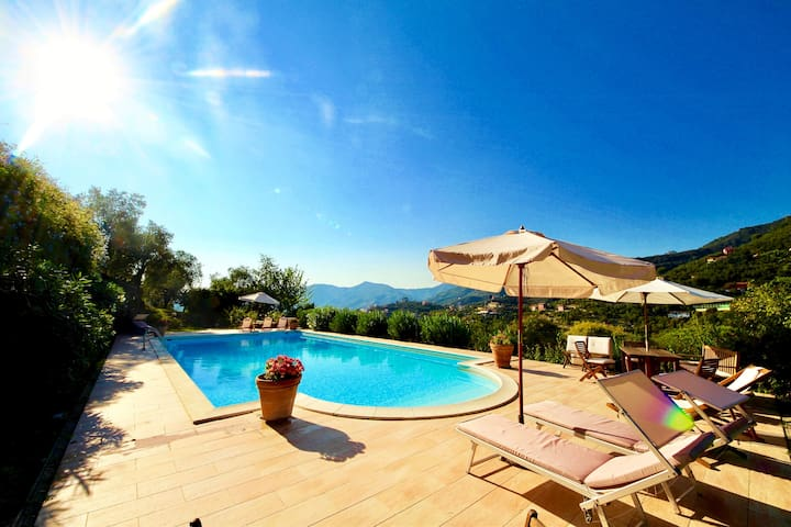 MELA 2BR-pool&garden by KlabHouse - Zoagli - Apartmen