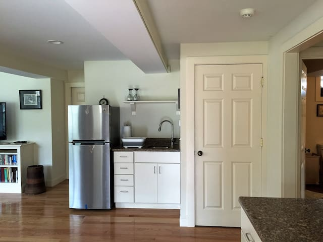 Kitchen area open to living room