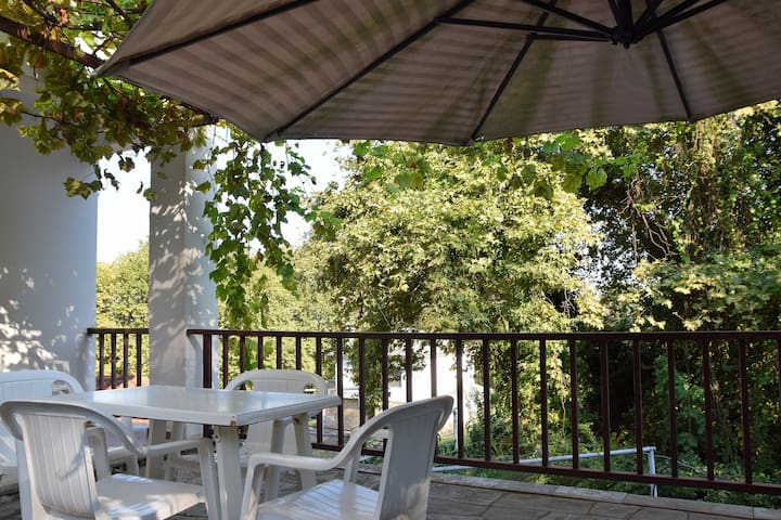 Apartment in summer house with large balcony