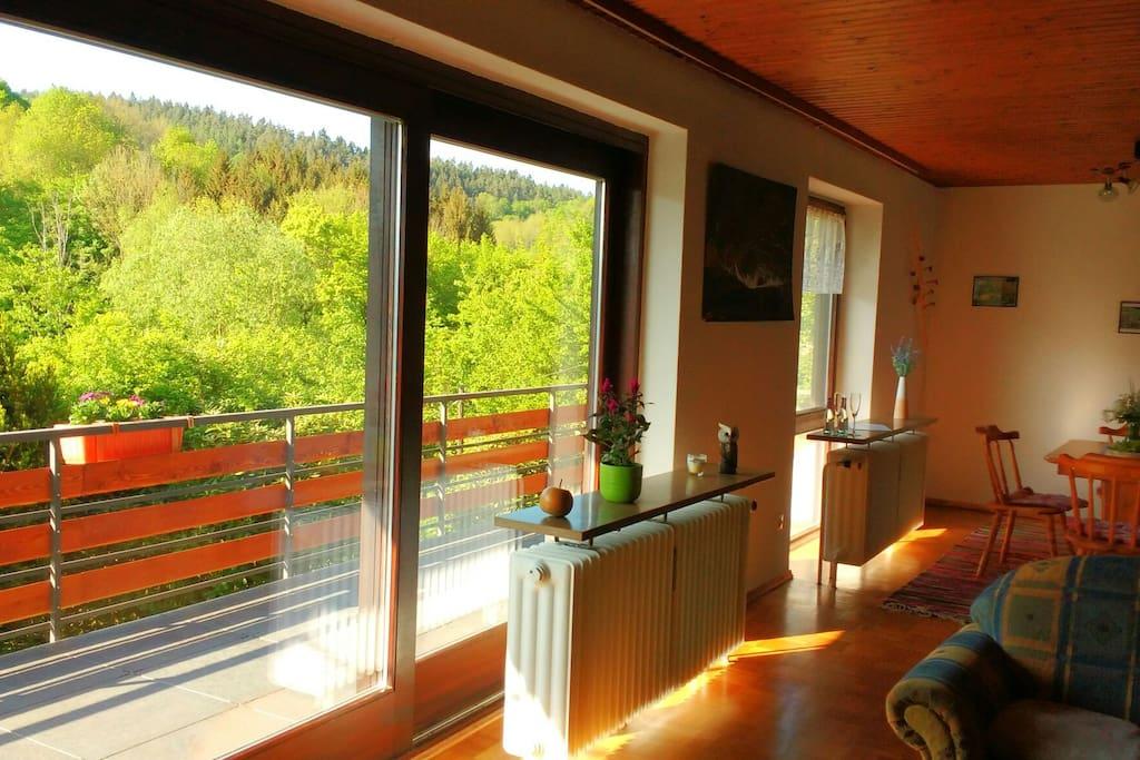 Panorama aus dem Wohnzimmer