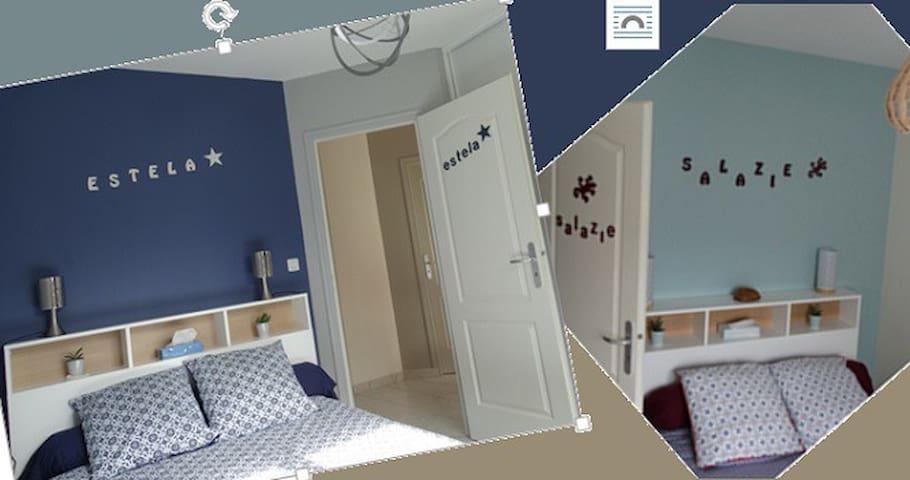 Pause déplacement 2 Chambres p'tidej SdB-WC privés