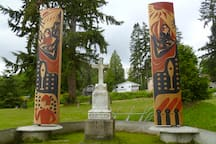 Walk to the sacred grave of Chief Seattle