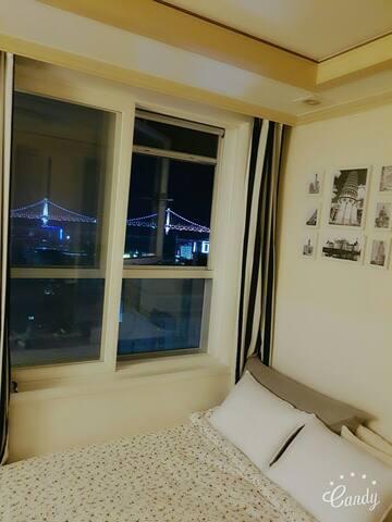 Gwanganbridgevisible광안대교정면보임.광안역5분 - 부산광역시 - Appartement