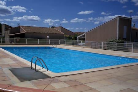 Villa 150mplage Résidene sécurisée piscine parking - Portiragnes
