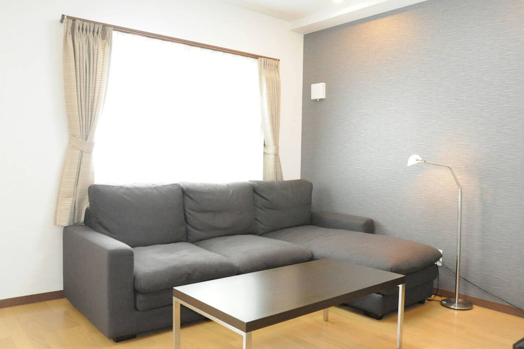 Living room with luxury sofa & TV