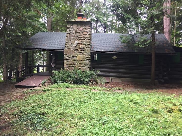 """Rusticana,'' an authentic log cabin"