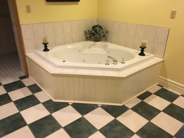 Whirlpool Tub main Guest Bathroom