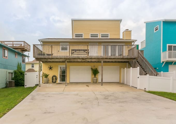 Enjoy the lovely 4 bedroom 3 bath home with plenty of parking for friends and family. This amazing beach home is perfect for large families with kids!