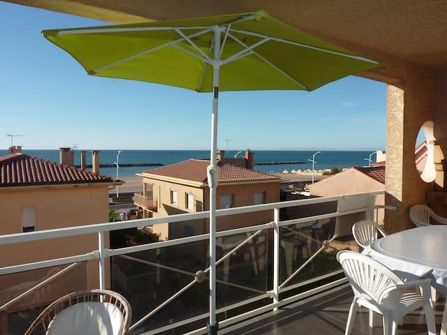 T3 valras plage avec terrasse, vue mer et parking - Valras-Plage - Huoneisto