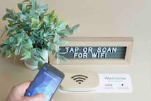 With a simple tap on our Wi-Fi porter,  Enjoy and stay socially connected  with a free  unlimited WiFi on all rooms with our Globe Fiber Broadband with max speed of 50Mbps..
