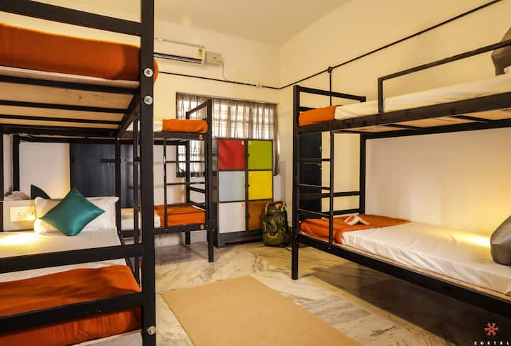 A Bed in 6 Bed Female Dorm in Alleppey