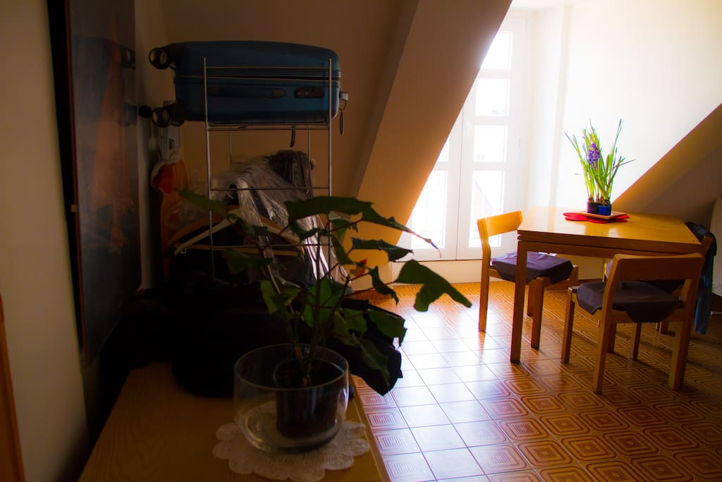 entrance + dinning room